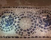 Blue and White Broken China Mosaic Backsplash