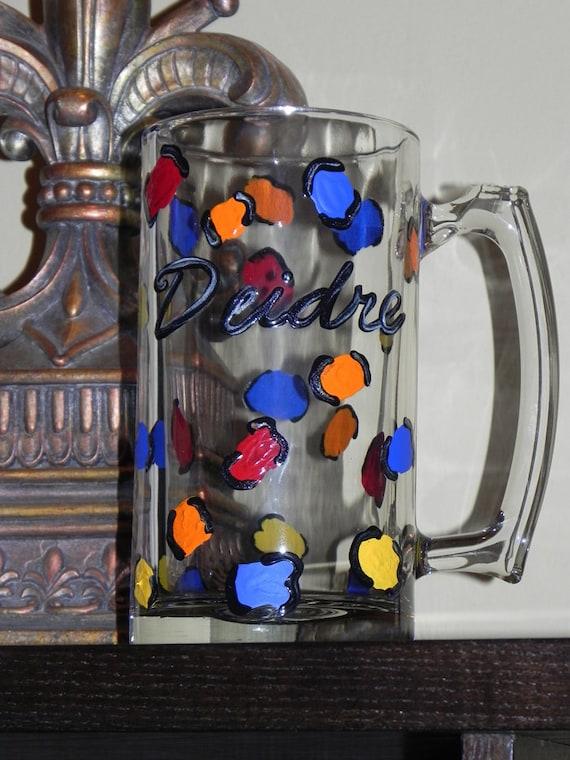 Leopard Print Beer Mug