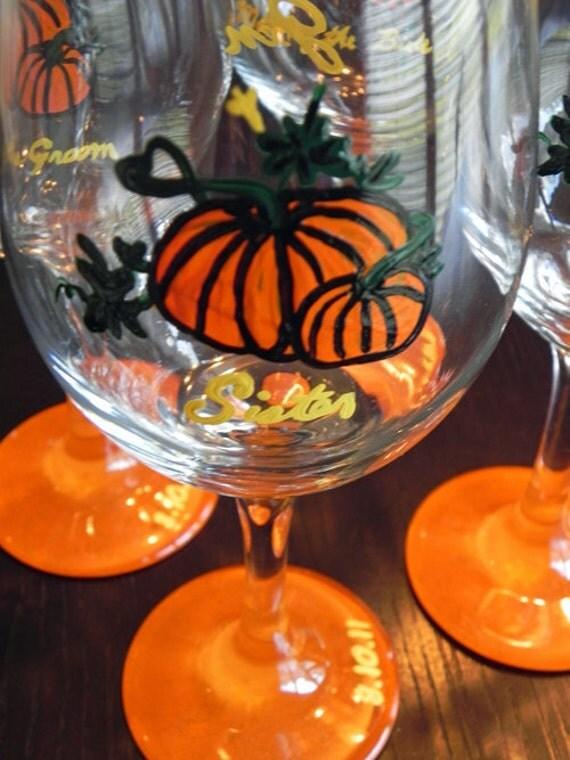 Pumpkin Patch Wine Glass