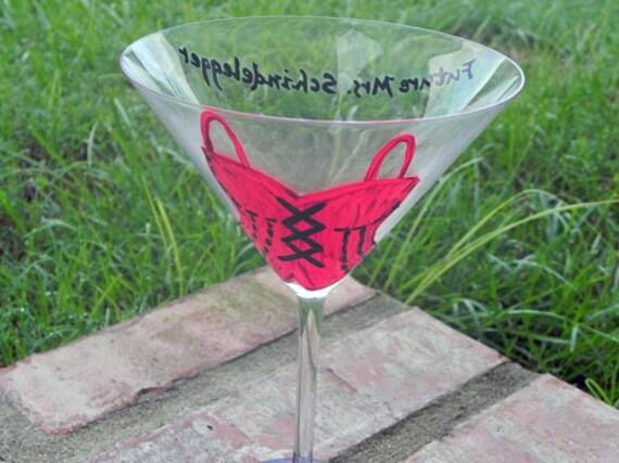 Bachelorette Corset Martini Glass
