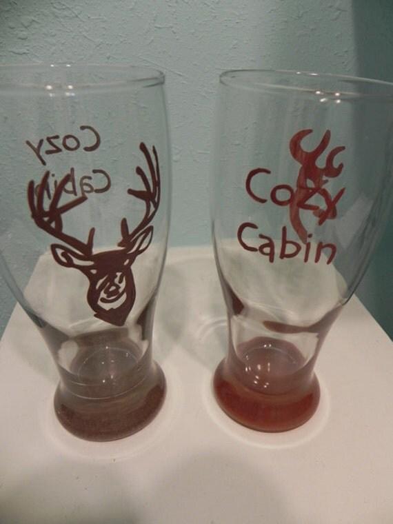 Deer Head Pub Glass