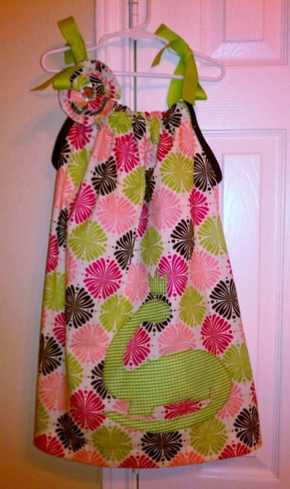 Girly dinosaur pillowcase dress by 2mamastees on etsy for Girly dinosaur fabric