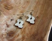 Cascading Prism Tesselation Geometric Wood Earrings