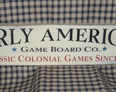SALE 30% OFF  Early American Game Board company, primitive wood sign