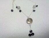 Rock Crystal Quartz Clear Quartz Amethyst Necklace