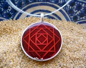Moroccan Zellige Necklace Marrakech Red