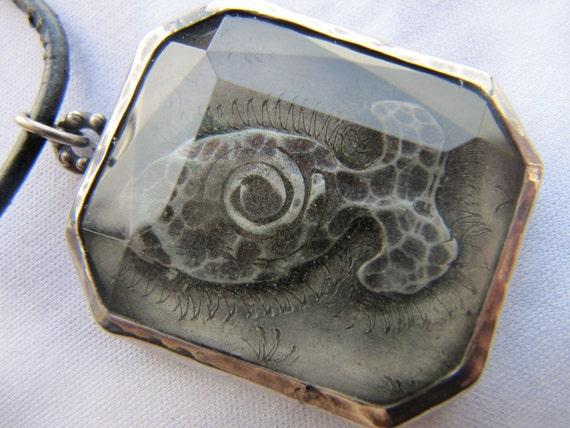 Silver  Glass Pendant