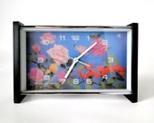 3D PSYCHEDELIC - Old Chinese Rose Garden Mechanical Alarm Clock