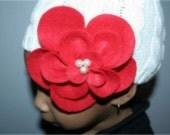 Felt Flower Clip Brooch