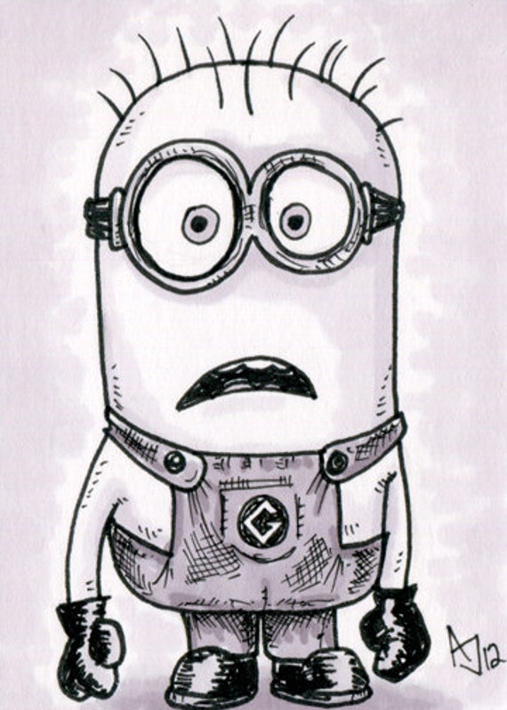 Pencil sketch of Minions : movie characters from ...  Easy Minion Pencil Drawings