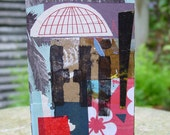 Original Collage art block to hang on the wall or free standing FREE SHIPPING
