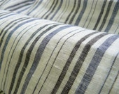 Pure soft linen fabric with  stripes 2 yards