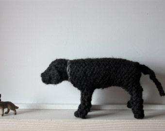 Knitted dog,  Black Labrador