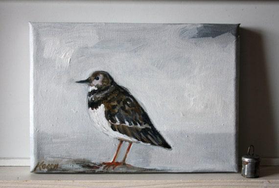 "Shore bird painting  7"" x 5"""