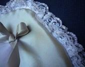 Custom silver pillow for Dorothy