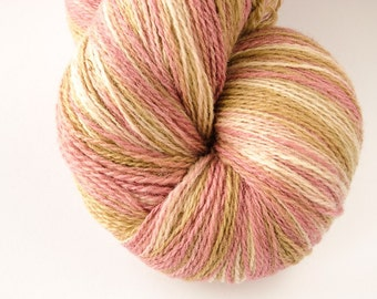 Kauni Wool Yarn 8/2 Color EJ, Self-Striping Light Pink Beige Vanilla