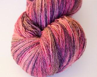 Kauni Wool Yarn Effektgarn 8/2 Violet Pink Gradient Self Striping Variegated 100% Wool dk 2ply