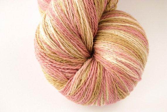Kauni Wool Yarn 8/2 Color EJ, Self-Striping Light Pink Beige Vanilla