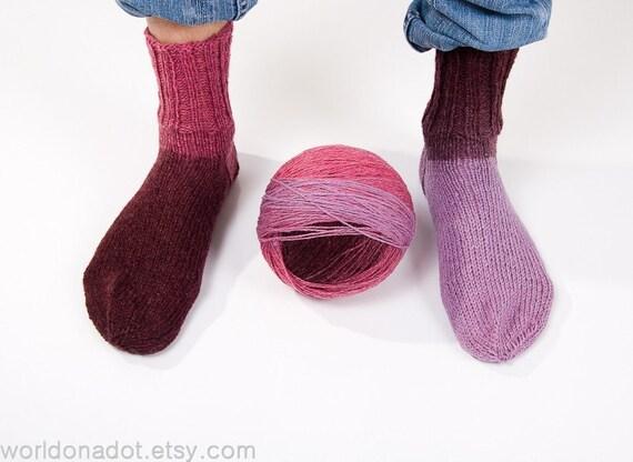 Kauni Wool Yarn Color EG, Self-Striping Plum Pink Claret Red Purple, FREE SHIPPING Worldwide