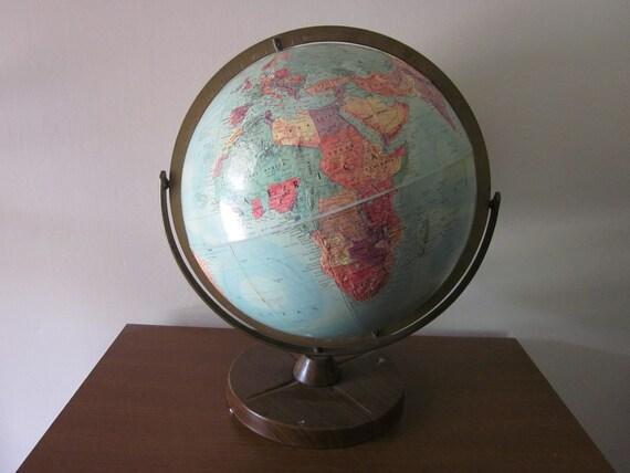 Mid-Century School Globe