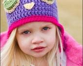 Purple Owl hat
