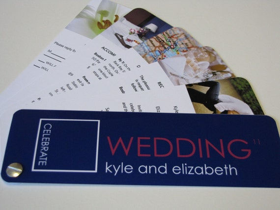 Pink And Navy Blue Wedding Invitations: Swatch Book Wedding Invitation Navy Blue And Pink Sample