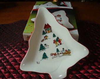Vintage The Joy of Christmas  Snack Dish by Jamestown China