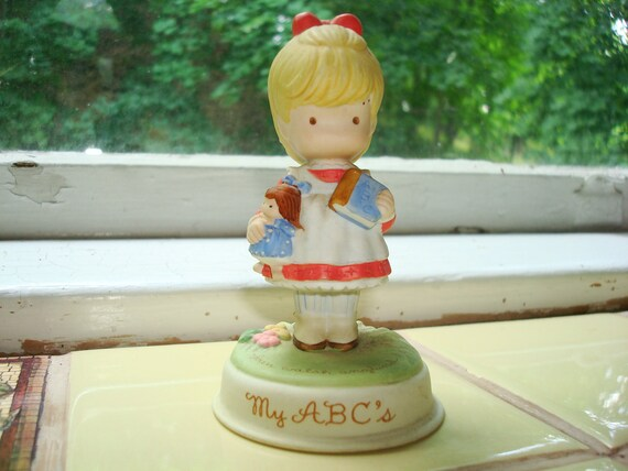 My ABCs Vintage Girl Figurine by Joan Walsh Anglund by Avon