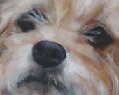 "Reserved Listing for Emily Custom Dog Portrait ""Close-up"": Original Oil Painting"