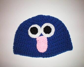 Crochet Lovable Grover Hats