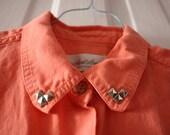 Rehabbed Studded Sleeveless Orange Top