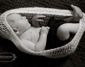 Ivory Crochet Baby Cocoon Bowl Cocoon/ Most Popular/ Made to Order/ Cyber Monday Free Shipping