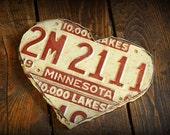 License Plate Heart - Minnesota