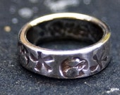 Stamped handforged Sterling Silver Ring size 4