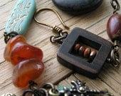 Christian Bracelet, Burnt Orange Jewelry, Semi Precious Gemstone Jewelry (18)