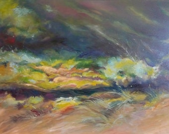 Desert Seep (40x30) Large Original Oil Painting on Canvas by Diane Borg