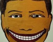 Original Coney Island Brooklyn Carnival Logo Silkscreen Painting