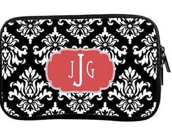 Personalized Kindle or Nook Sleeve - Smaller E-reader Sleeve - Custom  Monogram Tablet Case