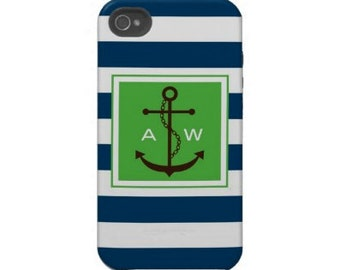 Personalized iPhone 5, 4/4s with Monogram. Create your Own Cell Phone Case, Monogrammed iPhone 6 cover