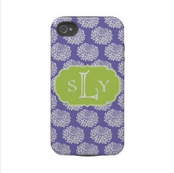 Personalized Cell Phone Cases with Monogram - iPhone 5,  4/4s, 3g,  iPod, Samsung