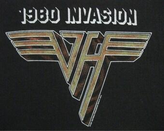 Original VAN HALEN vintage 1980 tour TSHIRT