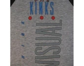 Original THE KINKS vintage 1987 tour TSHIRT jersey