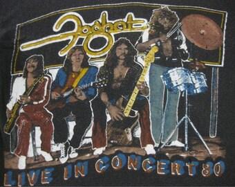 Original FOGHAT vintage 1970s tour TSHIRT
