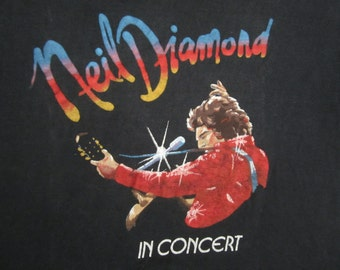 Original NEIL DIAMOND vintage 70s tour SHIRT