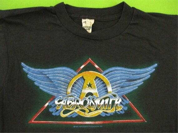 Vintage AEROSMITH 1982 tour T SHIRT concert tee ((( original ))) M/S mint