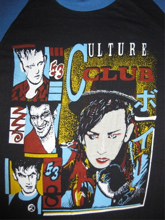 Vintage 80 S Culture Club T Shirt Concert Tour Jersey