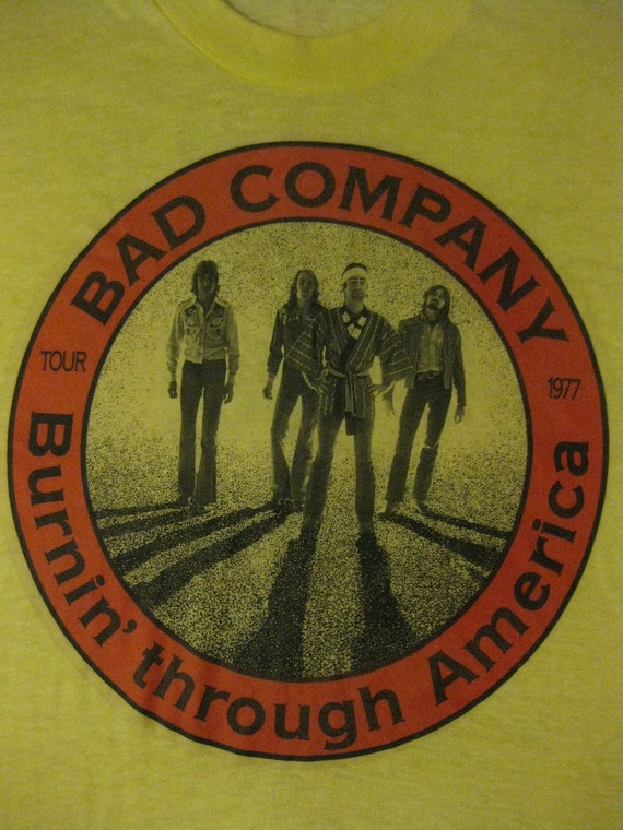 Vintage bad company 1977 tour shirt concert tee by rainbowgasoline