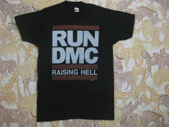 Original RUN DMC 1986 vintage tour SHIRT small