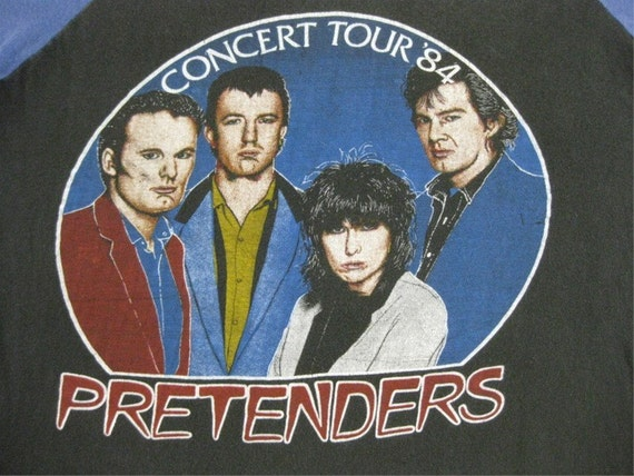 Original the PRETENDERS vintage 1984 tour TSHIRT jersey