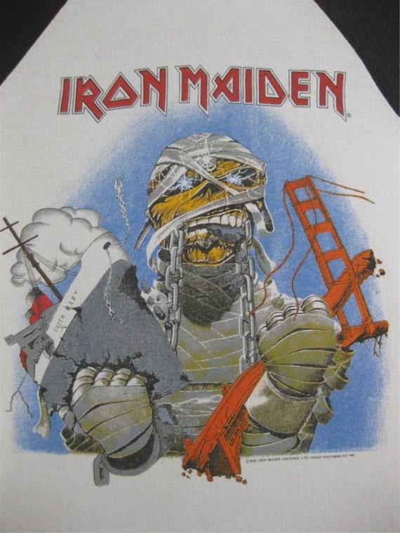 Original IRON MAIDEN vintage 1984 California SHIRT jersey